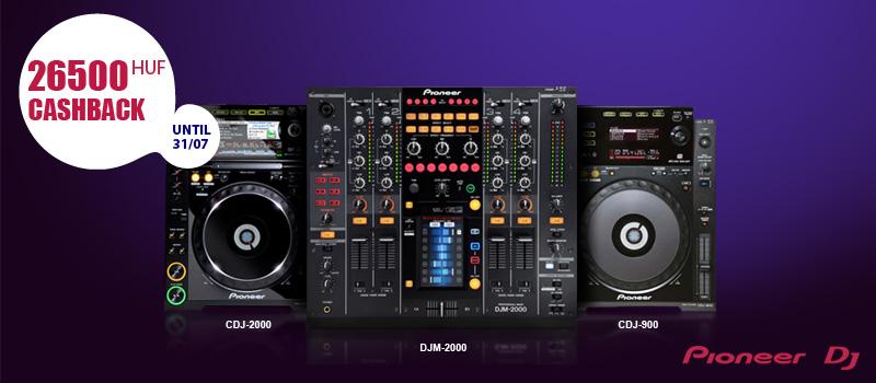 Pioneer DJ pénzvisszatérítési akció